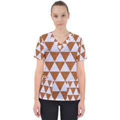 Triangle3 White Marble & Rusted Metal Scrub Top