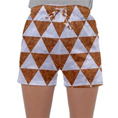 Triangle3 White Marble & Rusted Metal Sleepwear Shorts