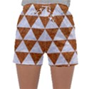 TRIANGLE3 WHITE MARBLE & RUSTED METAL Sleepwear Shorts View1