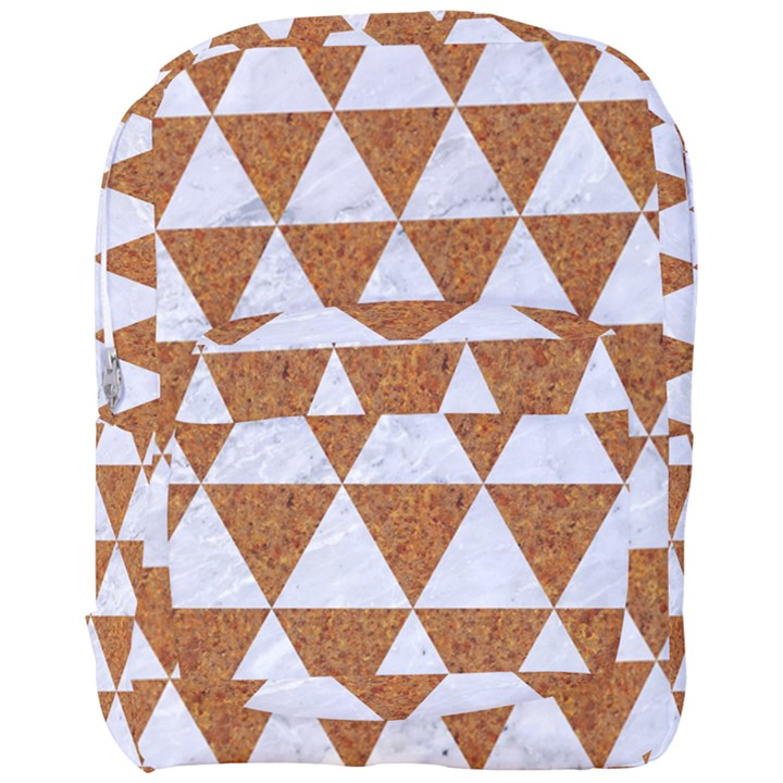 TRIANGLE3 WHITE MARBLE & RUSTED METAL Full Print Backpack