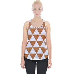 Triangle3 White Marble & Rusted Metal Piece Up Tank Top