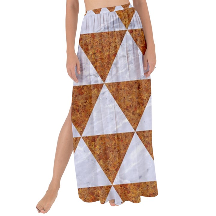 TRIANGLE3 WHITE MARBLE & RUSTED METAL Maxi Chiffon Tie-Up Sarong