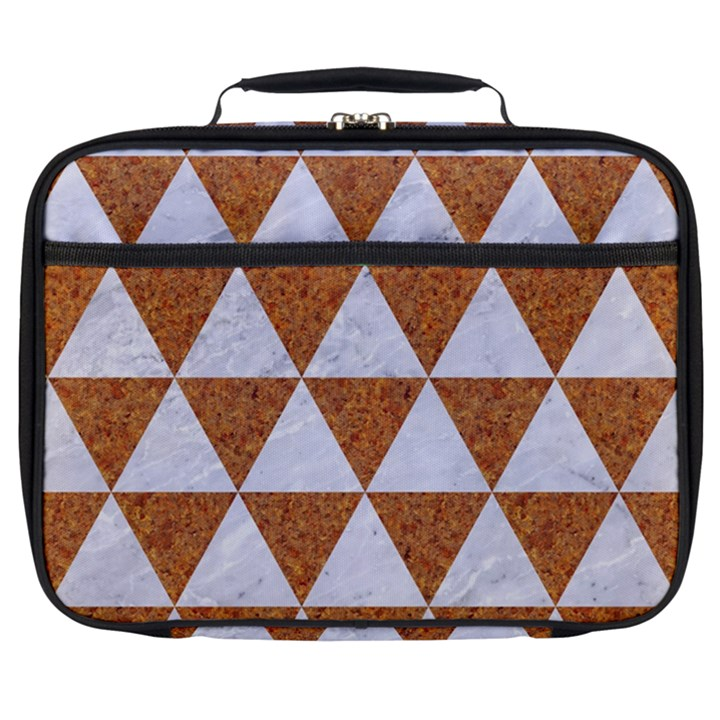 TRIANGLE3 WHITE MARBLE & RUSTED METAL Full Print Lunch Bag