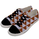 TRIANGLE3 WHITE MARBLE & RUSTED METAL Men s Low Top Canvas Sneakers View2