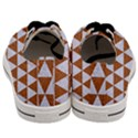 TRIANGLE3 WHITE MARBLE & RUSTED METAL Men s Low Top Canvas Sneakers View4