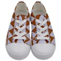 TRIANGLE3 WHITE MARBLE & RUSTED METAL Kids  Low Top Canvas Sneakers View1