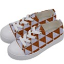 TRIANGLE3 WHITE MARBLE & RUSTED METAL Kids  Low Top Canvas Sneakers View2
