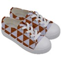 TRIANGLE3 WHITE MARBLE & RUSTED METAL Kids  Low Top Canvas Sneakers View3