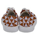 TRIANGLE3 WHITE MARBLE & RUSTED METAL Kids  Low Top Canvas Sneakers View4