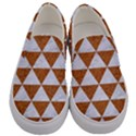 TRIANGLE3 WHITE MARBLE & RUSTED METAL Men s Canvas Slip Ons View1