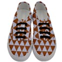 TRIANGLE3 WHITE MARBLE & RUSTED METAL Men s Classic Low Top Sneakers View1