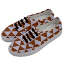 TRIANGLE3 WHITE MARBLE & RUSTED METAL Men s Classic Low Top Sneakers View2