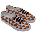 TRIANGLE3 WHITE MARBLE & RUSTED METAL Men s Classic Low Top Sneakers View3