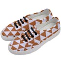 TRIANGLE3 WHITE MARBLE & RUSTED METAL Women s Classic Low Top Sneakers View2