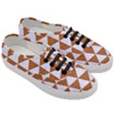 TRIANGLE3 WHITE MARBLE & RUSTED METAL Women s Classic Low Top Sneakers View3