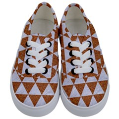 Triangle3 White Marble & Rusted Metal Kids  Classic Low Top Sneakers