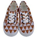 TRIANGLE3 WHITE MARBLE & RUSTED METAL Kids  Classic Low Top Sneakers View1