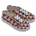 TRIANGLE3 WHITE MARBLE & RUSTED METAL Kids  Classic Low Top Sneakers View3