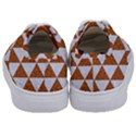 TRIANGLE3 WHITE MARBLE & RUSTED METAL Kids  Classic Low Top Sneakers View4