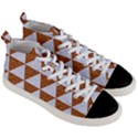 TRIANGLE3 WHITE MARBLE & RUSTED METAL Men s Mid-Top Canvas Sneakers View3