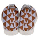 TRIANGLE3 WHITE MARBLE & RUSTED METAL Men s Mid-Top Canvas Sneakers View4