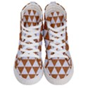 TRIANGLE3 WHITE MARBLE & RUSTED METAL Men s Hi-Top Skate Sneakers View1