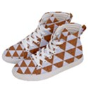 TRIANGLE3 WHITE MARBLE & RUSTED METAL Men s Hi-Top Skate Sneakers View2