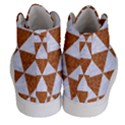 TRIANGLE3 WHITE MARBLE & RUSTED METAL Men s Hi-Top Skate Sneakers View4