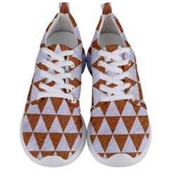 Triangle3 White Marble & Rusted Metal Men s Lightweight Sports Shoes