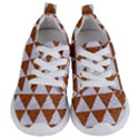 TRIANGLE3 WHITE MARBLE & RUSTED METAL Kids  Lightweight Sports Shoes View1