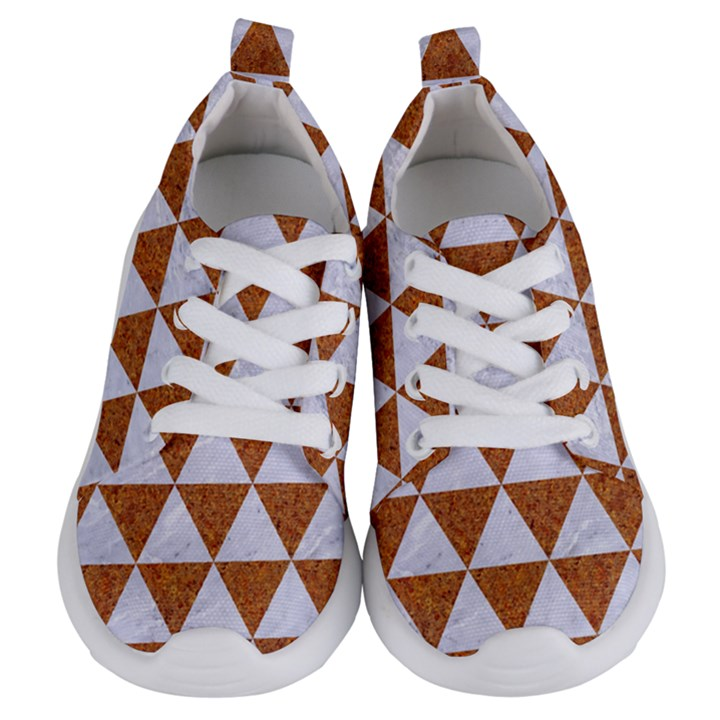 TRIANGLE3 WHITE MARBLE & RUSTED METAL Kids  Lightweight Sports Shoes