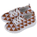TRIANGLE3 WHITE MARBLE & RUSTED METAL Kids  Lightweight Sports Shoes View2