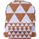 TRIANGLE3 WHITE MARBLE & RUSTED METAL Giant Full Print Backpack View1