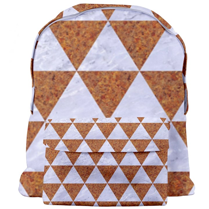 TRIANGLE3 WHITE MARBLE & RUSTED METAL Giant Full Print Backpack