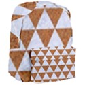TRIANGLE3 WHITE MARBLE & RUSTED METAL Giant Full Print Backpack View3
