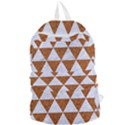 TRIANGLE3 WHITE MARBLE & RUSTED METAL Foldable Lightweight Backpack View1
