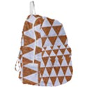 TRIANGLE3 WHITE MARBLE & RUSTED METAL Foldable Lightweight Backpack View3