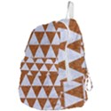 TRIANGLE3 WHITE MARBLE & RUSTED METAL Foldable Lightweight Backpack View4