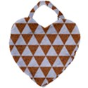 TRIANGLE3 WHITE MARBLE & RUSTED METAL Giant Heart Shaped Tote View1