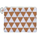 TRIANGLE3 WHITE MARBLE & RUSTED METAL Canvas Cosmetic Bag (XXL) View1