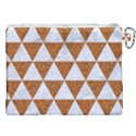 TRIANGLE3 WHITE MARBLE & RUSTED METAL Canvas Cosmetic Bag (XXL) View2