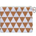 TRIANGLE3 WHITE MARBLE & RUSTED METAL Canvas Cosmetic Bag (XXXL) View2