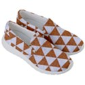 TRIANGLE3 WHITE MARBLE & RUSTED METAL Women s Lightweight Slip Ons View3