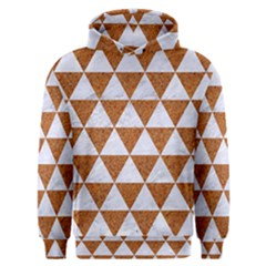 Triangle3 White Marble & Rusted Metal Men s Overhead Hoodie