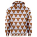 TRIANGLE3 WHITE MARBLE & RUSTED METAL Men s Overhead Hoodie View1