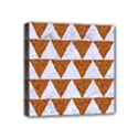 TRIANGLE2 WHITE MARBLE & RUSTED METAL Mini Canvas 4  x 4  View1