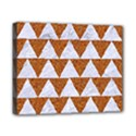 TRIANGLE2 WHITE MARBLE & RUSTED METAL Canvas 10  x 8  View1