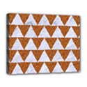 TRIANGLE2 WHITE MARBLE & RUSTED METAL Canvas 14  x 11  View1