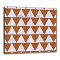 TRIANGLE2 WHITE MARBLE & RUSTED METAL Canvas 24  x 20  View1