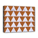 TRIANGLE2 WHITE MARBLE & RUSTED METAL Deluxe Canvas 20  x 16   View1